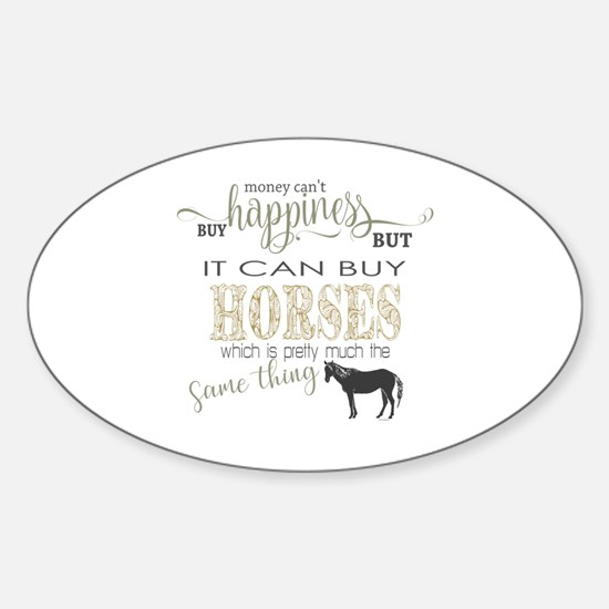 Unique Horse people Sticker (Oval)
