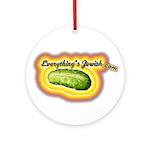 Everything's Jewish Ornament (Round)