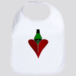 Poison Heart Bib