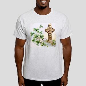 Celtic Cross Shamrocks T-Shirt