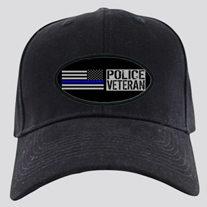 Police: Police Veteran (Black Flag Blue Black Cap