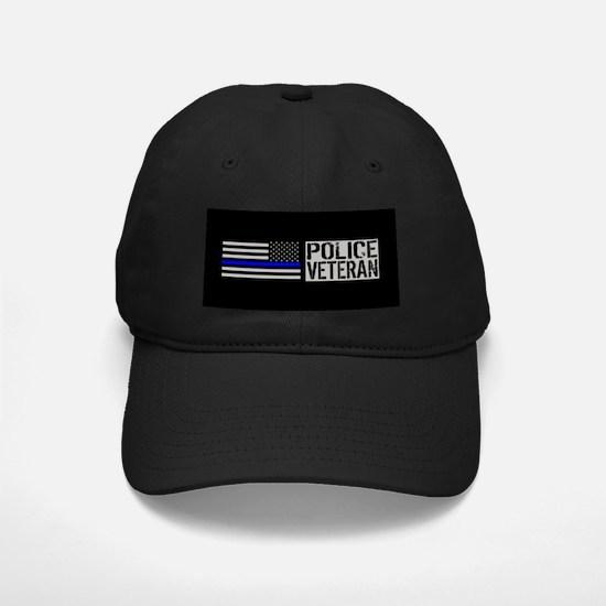 Police: Police Veteran (Black Flag Blue Baseball Hat