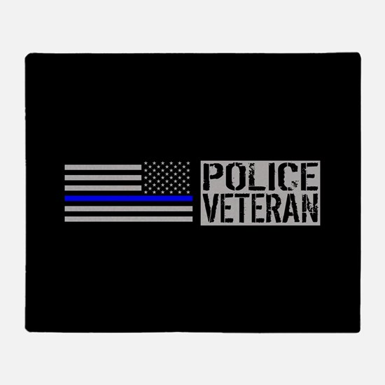 Police: Police Veteran (Black Flag B Throw Blanket