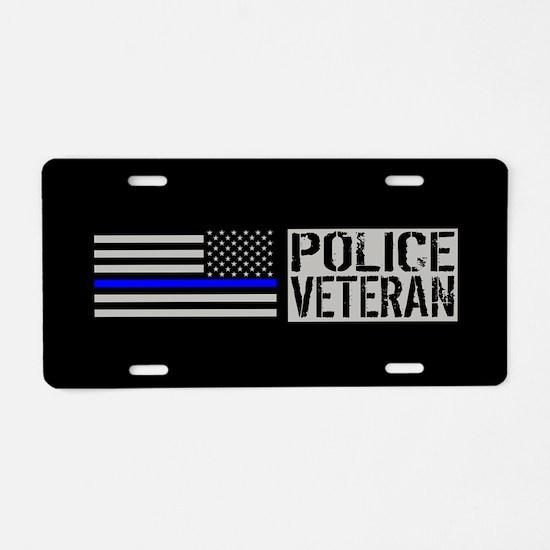 Police: Police Veteran (Bla Aluminum License Plate