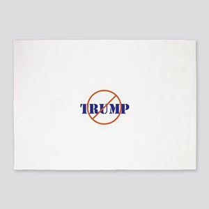 Anti Trump, no Trump 5'x7'Area Rug