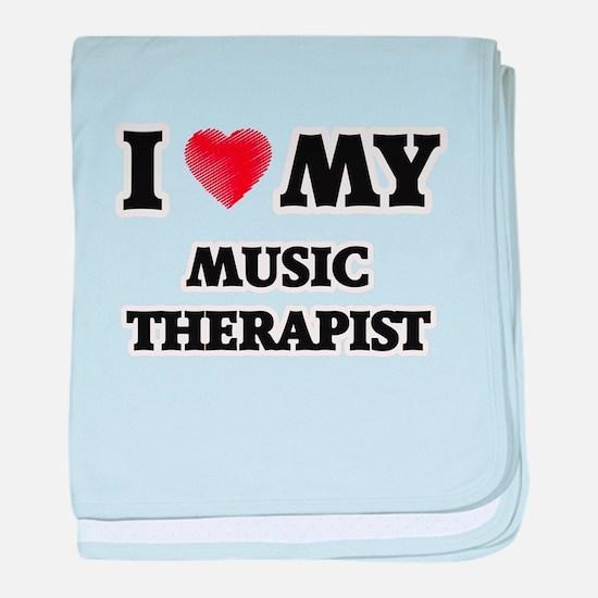 I love my Music Therapist baby blanket