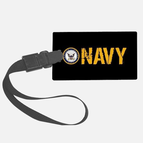 U.S. Navy: Navy (Black) Large Luggage Tag