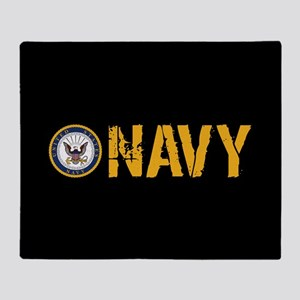 U.S. Navy: Navy (Black) Throw Blanket