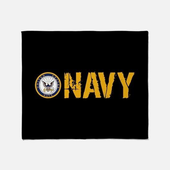 U.S. Navy: Navy (Black) Throw Blanket