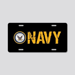 U.S. Navy: Navy (Black) Aluminum License Plate
