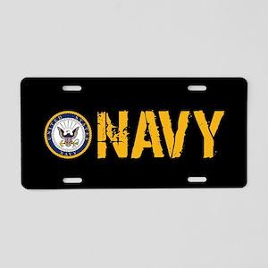 a4f65d1ba9f0 U.S. Navy  Navy (Black) Aluminum License Plate