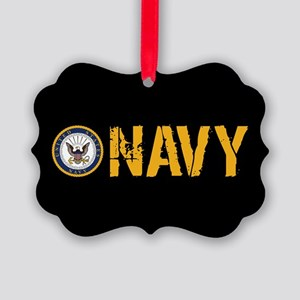 U.S. Navy: Navy (Black) Picture Ornament