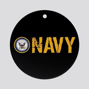 U.S. Navy: Navy (Black) Round Ornament