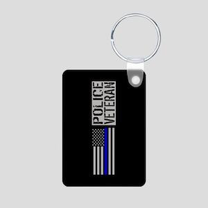 Police: Police Veteran (Bl Aluminum Photo Keychain