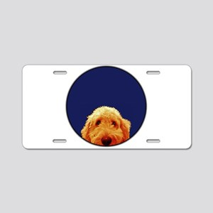 Golden Doodle Aluminum License Plate