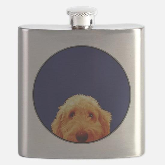 Golden Doodle Flask