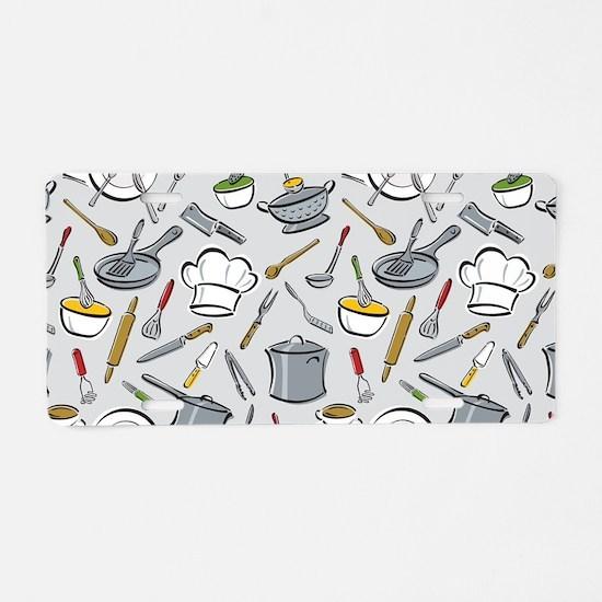 Chef's Tools Aluminum License Plate