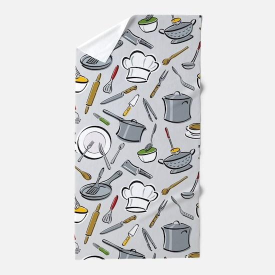 Chef's Tools Beach Towel