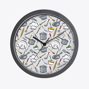 Chef's Tools Wall Clock