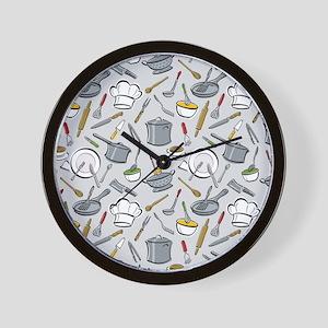 Chef's Tools Wall Clock