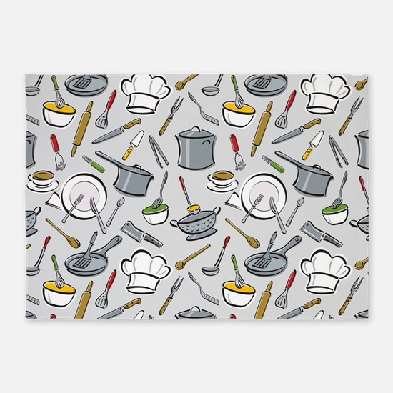 Chef's Tools 5'x7'Area Rug