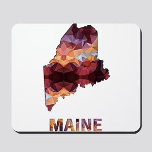 Mosaic Map MAINE Mousepad