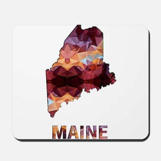 Mosaic Map MAINE Mousepad