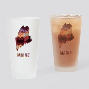 Mosaic Map MAINE Drinking Glass