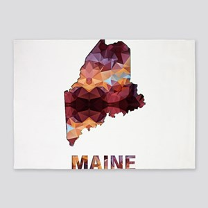 Mosaic Map MAINE 5'x7'Area Rug