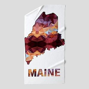 Mosaic Map MAINE Beach Towel