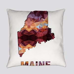 Mosaic Map MAINE Everyday Pillow