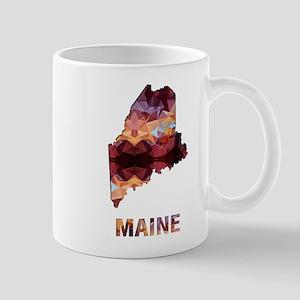 Mosaic Map MAINE Mugs