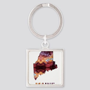Mosaic Map MAINE Keychains
