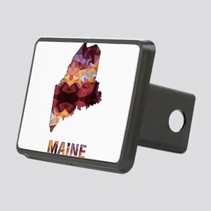 Mosaic Map MAINE Rectangular Hitch Cover