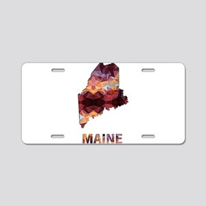 Mosaic Map MAINE Aluminum License Plate