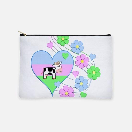 Fun Cow Heart Makeup Bag
