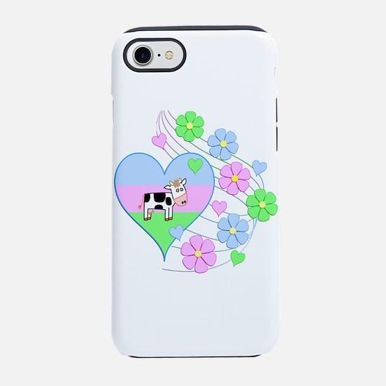 Fun Cow Heart iPhone 8/7 Tough Case