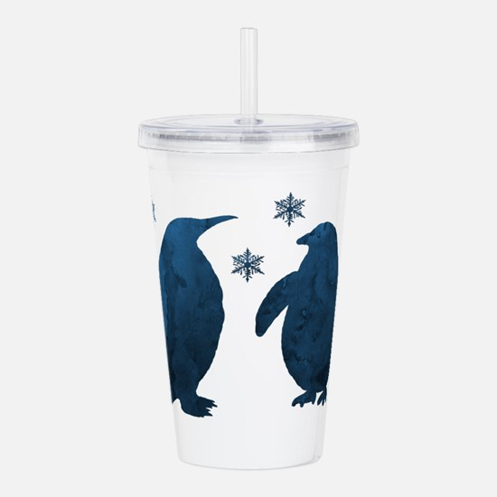 Penguin Silhouette Acrylic Double-wall Tumbler