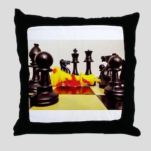 The Fallen King Throw Pillow