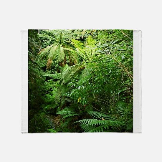 Punga Tree Ferns NZ Throw Blanket