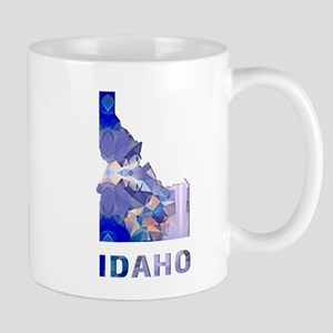 Mosaic Map IDAHO Mugs