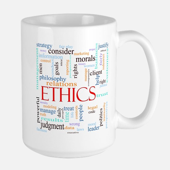Ethics word concept ill Stainless Steel Travel Mug