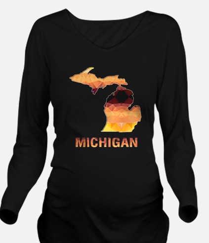 Unique Michigan state Long Sleeve Maternity T-Shirt