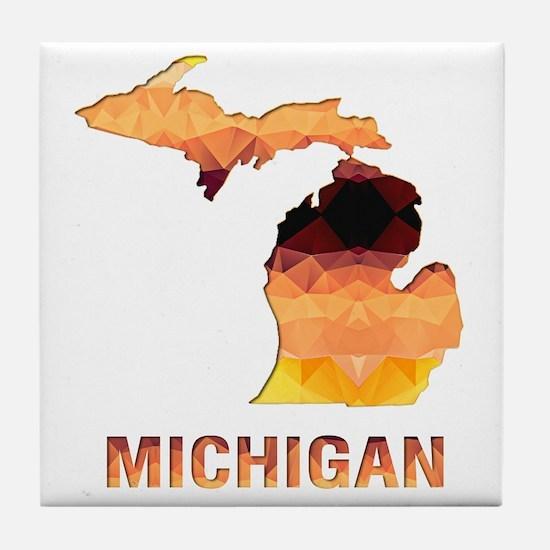 Cute State of michigan Tile Coaster