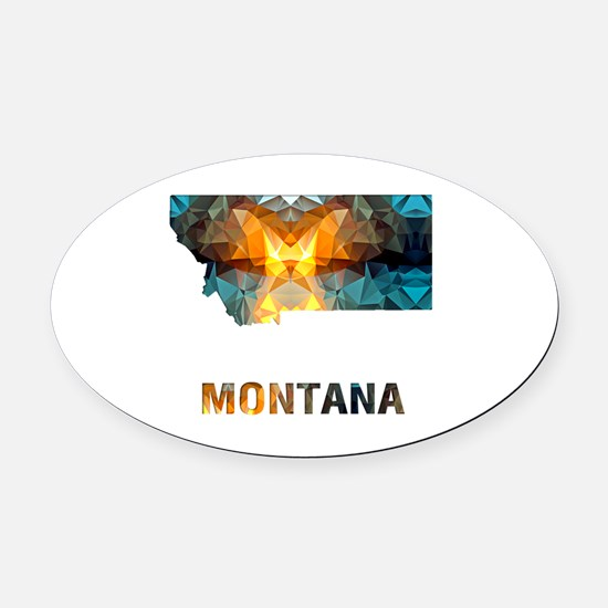 Montana Oval Car Magnet