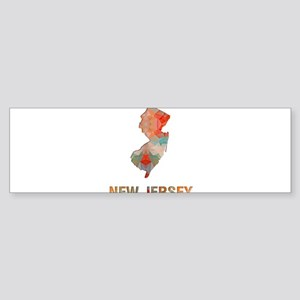 Mosaic Map NEW JERSEY Bumper Sticker