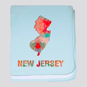 Mosaic Map NEW JERSEY baby blanket