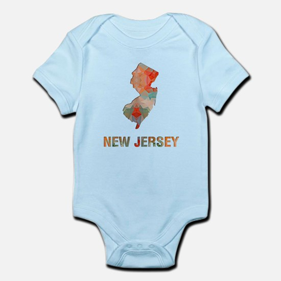 Mosaic Map NEW JERSEY Body Suit