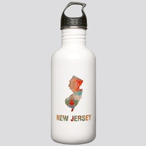 Mosaic Map NEW JERSEY Stainless Water Bottle 1.0L