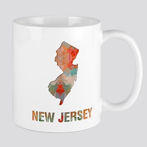 Mosaic Map NEW JERSEY Mugs